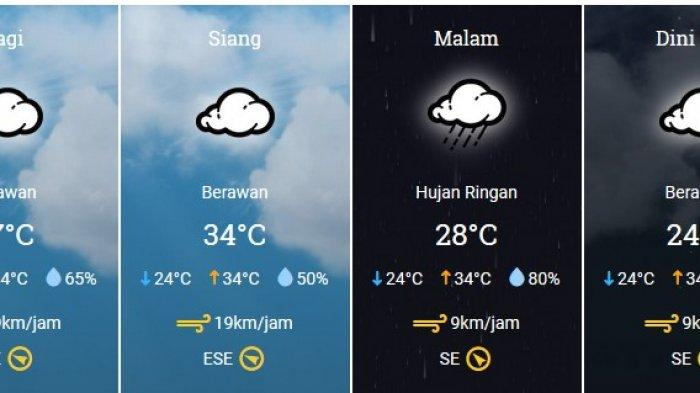 Prakiraan Cuaca Jakarta Hari Ini Kamis 2 1 2020 Diprediksi Diliputi Awan Hingga Hujan Lokal Tribunnews Com Mobile