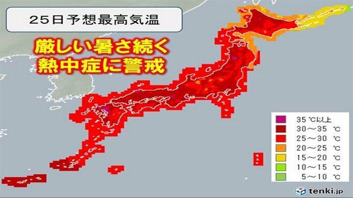 Serangan Panas di Jepang, Suhu Mencapai 35 Derajat Celcius, Masyarakat Diminta Waspada Dehidrasi