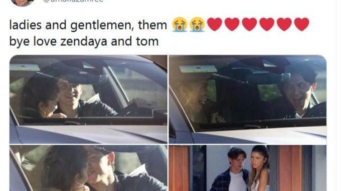 Sempat Menyangkal Pacaran, Pasangan Spider-Man Tom Holland dan Zendaya Kepergok Bermesraan di Mobil