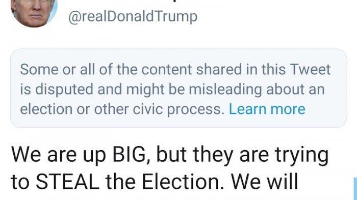 Cuitan Trump Ditengarai Menyesatkan, Twitter Langsung Beri Peringatan