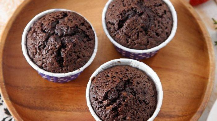 Cup Cake Cokelat Almond