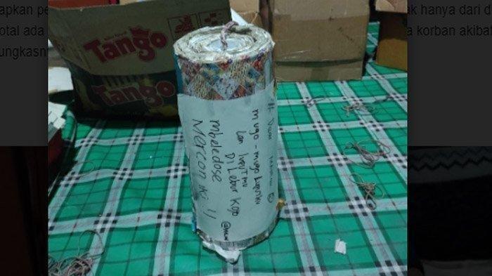 Sita Petasan Jumbo, Polisi Kaget Lihat Tulisan di Bungkusnya, Ternyata Pemuda Ini Curhat Mantan