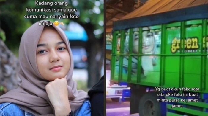 Curhatan seorang gadis yang fotonya sering muncul di belakang truk viral, ini kisahnya 1