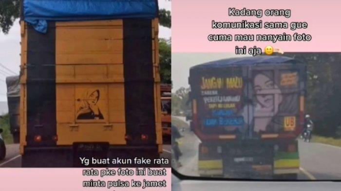 Curhatan seorang gadis yang fotonya sering muncul di belakang truk viral, ini kisahnya 3