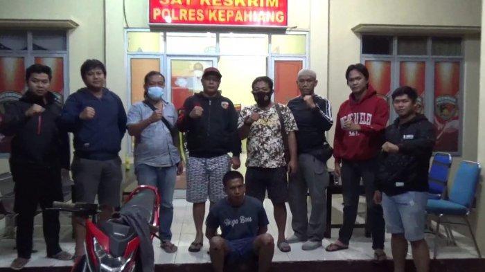 Diduga Larikan Sepeda Motor, Tim Elang Jupi Reskrim Polres Kepahiang Tangkap Pemuda Musi Rawas