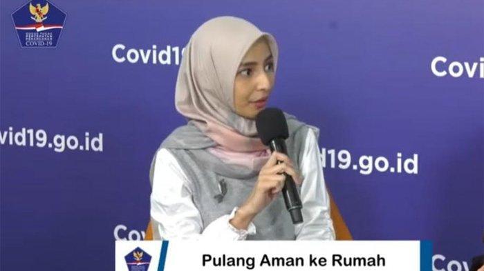 Dokter Cut Aigia di Kantor BNPB, Jakarta, Minggu (14/6/2020).