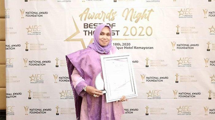 Hj Rizayati Kembali Raih Penghargaan Nasional, Most Innovative Women Award 2020