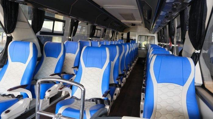 Bus Legacy SR2 yang dibangun dengan standar Physical Distancing