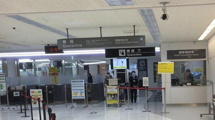 Daerah karantina Bandara Haneda Jepang.