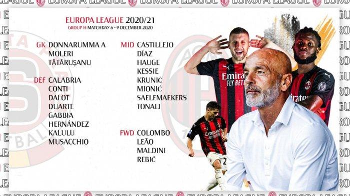 DAFTAR PEMAIN AC Milan Lawan Sparta Praha di Liga Eropa: Calhanoglu Absen & Debut Perdana Mionic