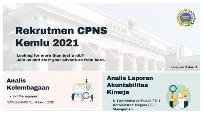 Daftar Formasi CPNS Kemlu 2021 bagi Lulusan S1, Dilengkapi Alur Pendaftaran CPNS