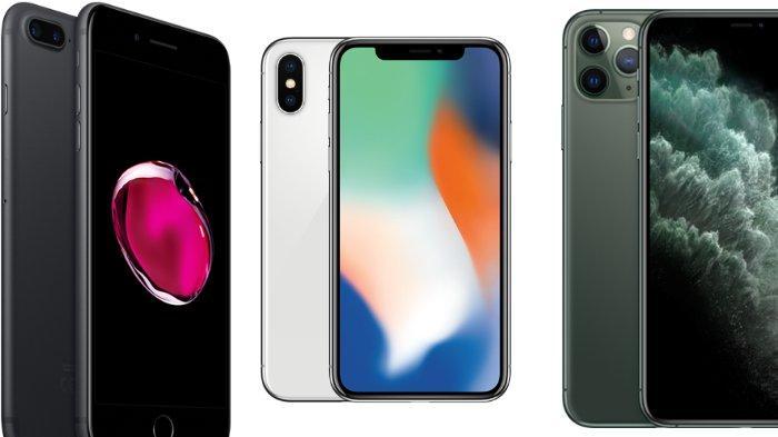Daftar harga iPhone terbaru bulan Juni 2020, mulai dari seri iPhone 7, iPhone 7 Plus, iPhone X, hingga iPhone 11 Pro Max.
