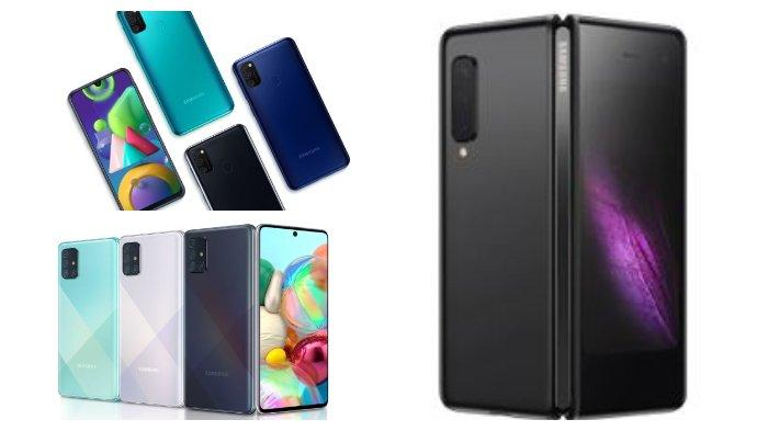 Galaxy M21, Galaxy A71 hingga Galaxy Fold. (Tangkapan layar Samsung.com)