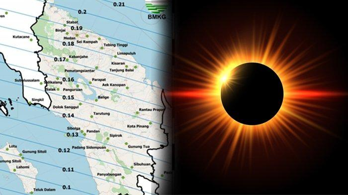 Ini Daftar 32 Kota di Sumatera Utara yang Bisa Saksikan Gerhana Matahari Cincin 21 Juni 2020
