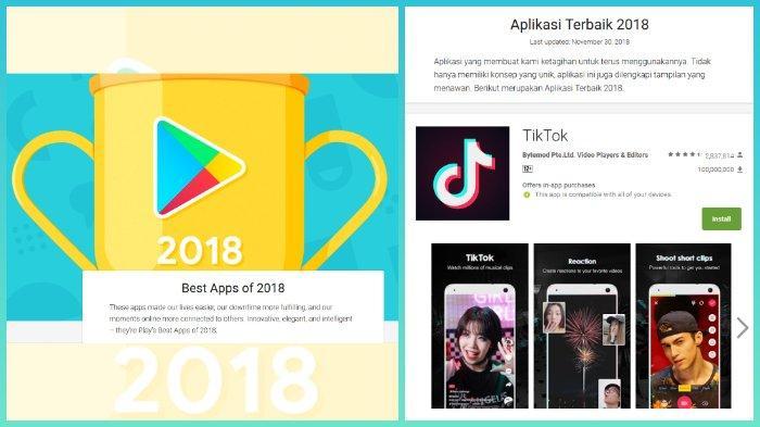 Daftar Pemenang Google Play Awards 2018 Tiktok Raih Penghargaan Sebagai Aplikasi Terbaik 2018 Tribunnews Com Mobile