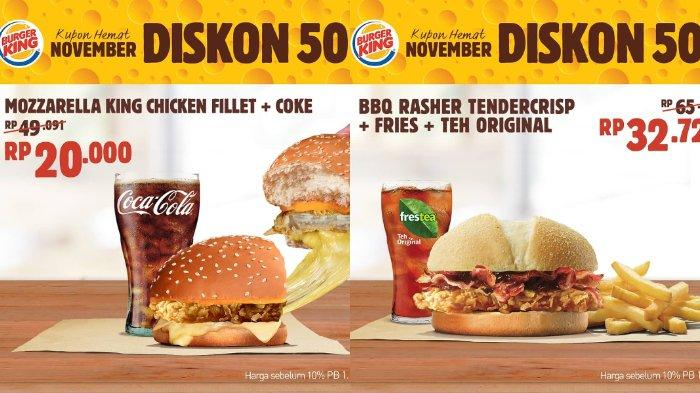 Daftar Promo Burger King November 2019 Super Float Rp 5 Ribuan Cheesy Waffle Fries Rp 7 5 Ribu Halaman 2 Tribunnews Com Mobile