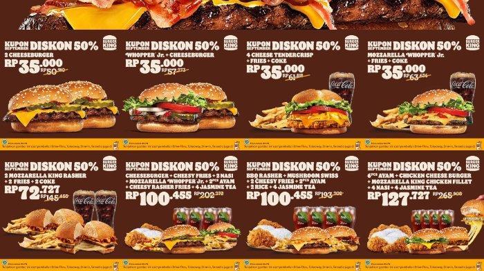 Daftar Promo Burger King Bulan September 2021