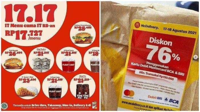 Daftar Promo Kuliner HUT ke-76 Kemerdekaan RI: Burger King, McDonalds, hingga Texas Chicken