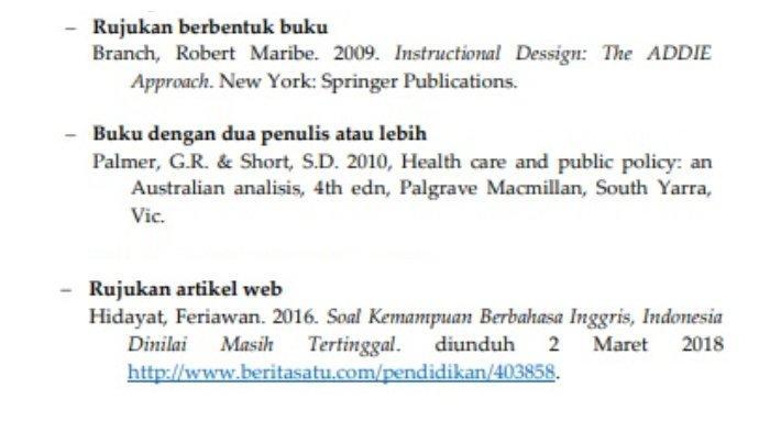 Cara Membuat Daftar Pustaka Dari Sumber Buku Jurnal Hingga Artikel Web Dilengkapi Contohnya Tribunnews Com Mobile