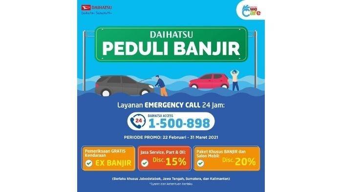 Daihatsu Beri Layanan Khusus Peduli Banjir