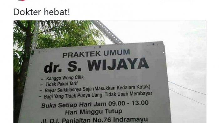 Viral! S Wijaya, Dokter Hebat yang Tak Pasang Tarif, Bayar Seikhlasnya, Tak Punya Uang Pun Dilayani