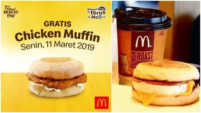 Peringati National Breakfast Day 2019 Mcdonalds Bagikan Chicken Muffin Gratis Untuk Sarapan Tribunnews Com Mobile
