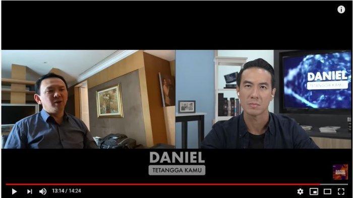 Daniel Mananta dan Basuki Tjahaja Purnama (BTP) atau Ahok. (Tangkap Layar YouTube Daniel Mananta Network).