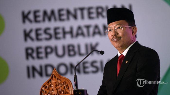 Menkes Terawan Agus Putranto memberikan sambutan dalam acara Anugerah Menteri Kesehatan di Jakarta, Selasa (12/11/2019). TRIBUNNEWS/HO