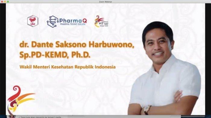 Dante Saksono Harbuwono   mengikuti webinar