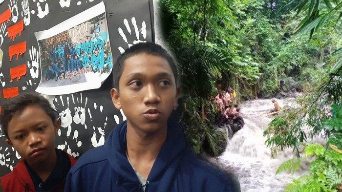 Danu Wahyu siswa SMP Negeri 1 Turi sekaligus peaerta susur sungai