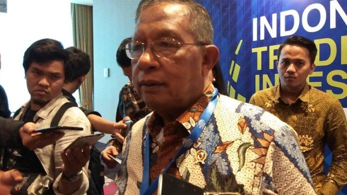 Menteri Koordinator Bidang Perekonomian, Darmin Nasution di Indonesia Trade and Investment Summit 2019, The Ritz-Carlton, SCBD, Jakarta Selatan, Selasa (15/10/2019).
