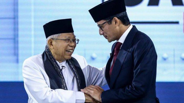 Usai Kampanye, Sandiaga Uno Kelelahan, Bagaimana dengan Ma'ruf Amin?