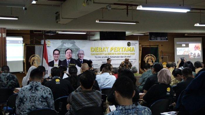 Adu Gagasan untuk Kemajuan Alumni dan Almamater Universitas Indonesia di Debat Pertama