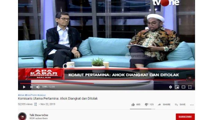 Marwan Batubara Nilai Ahok Jadi Komut Pertamina adalah Bencana, Minta Jokowi Segera Membatalkan