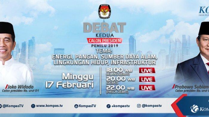 Link Live Streaming Debat Capres Kedua, Jokowi vs Prabowo, Minggu 17 Februari Cek di Sini!