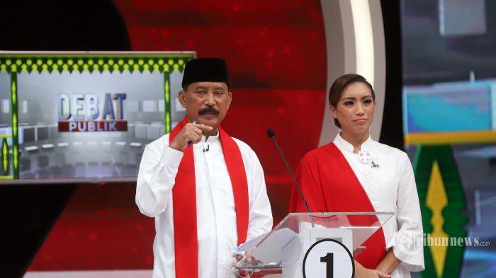Debat Kedua Pilkada Tangsel, Muhamad-Saraswati Didampingi Rano Karno, Jaja Miharja, dan Sekjen PSI