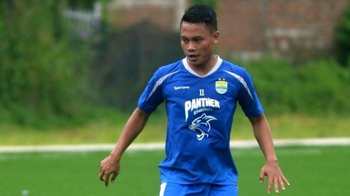 Gelandang Persib Bandung, Dedi Kusnandar. TRIBUN JABAR/DENI DENASWARA