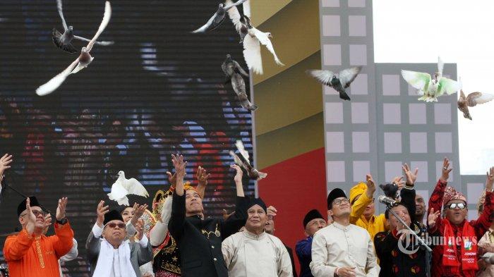Burung Merpati Ma'ruf Amin Tak Terbang Jauh Saat Deklarasi Kampanye Damai, Jadi Bahan Perbincangan