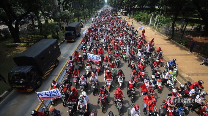 Aksi Demo Tolak UU Cipta Kerja Siang Ini, 12 Ribu Petugas Gabungan Disebar di Beberapa Titik Lokasi