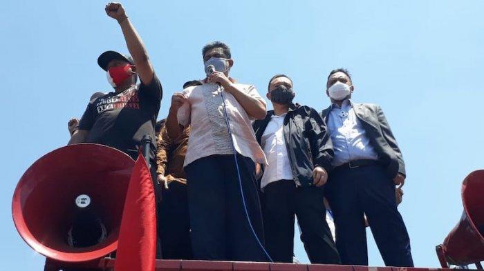 Pimpinan DPR dan Baleg Temui Massa Buruh Tolak Omnibus Law Cipta Kerja