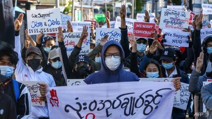 Delapan Warga Sipil Tewas Saat Unjuk Rasa Myanmar Tentang Kudeta Militer