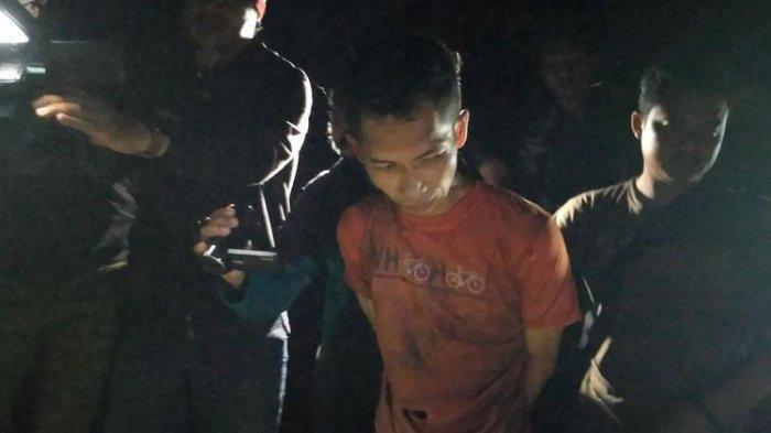Deni Riyanto, pelaku pembunuhan disertai mutilasi ditangkap polisi di Banyumas, Jawa Tengah, Kamis (11/7/2019) malam.