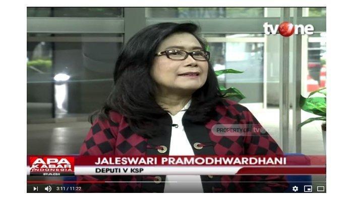 Deputi V Kantor Staf Kepresidenan (KSP), Jaleswari Pramodhwarhani dalam channel YouTube Talk Show tvOne, Selasa (3/3/2020).