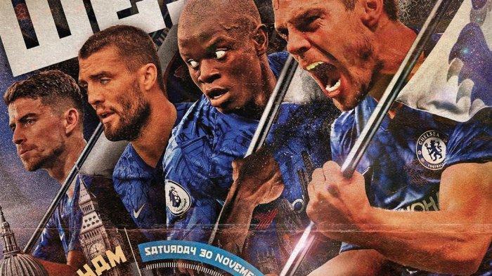 Derby London Terpanas West Ham United Vs Chelsea, Live on Mola TV Sabtu Ini Pukul 23.30 WIB