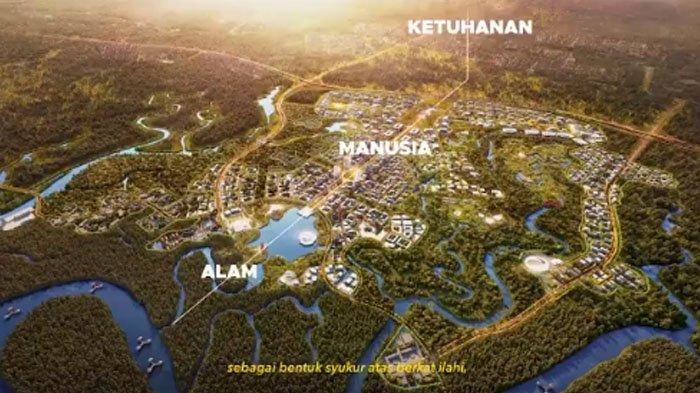 Usung Tema 'Nagara Rimba Nusa',Ini Penampakan Desain Istana Presiden & Danau Pancasila Ibu Kota Baru