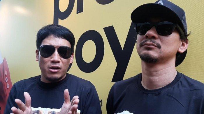 Desta dan Vincent Rompies saat ditemui di Press Screening Pretty Boys, Jakarta Selatan, Senin (16/9/2019).