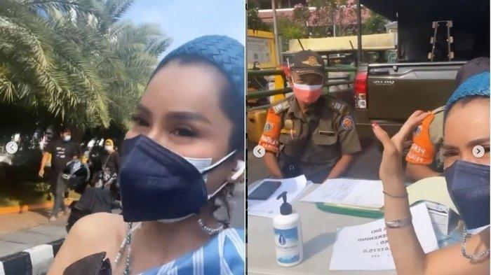Devi Demplon didenda tak kenakan masker di dalam mobil pribadi