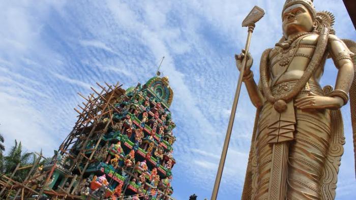 Pesona Patung Dewa Murugan di Kabupaten Langkat, Tertinggi Kedua di Dunia