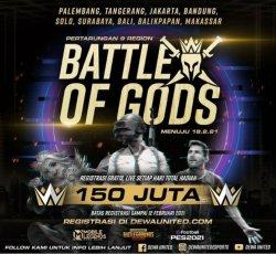 Dewa United Esports Gelar Battle of Gods, Turnamen Esports Hadiahnya Menggiurkan