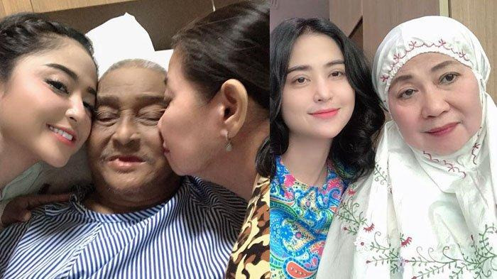 Rayakan Idul Adha di Kampung Halaman, Dewi Perssik Kepergok Tidur di Samping Makam Ayahnya
